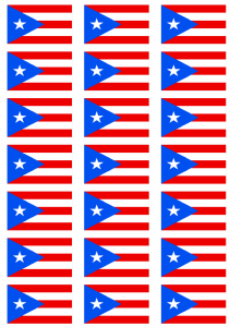 Puerto Rico Flag Stickers - 21 per sheet